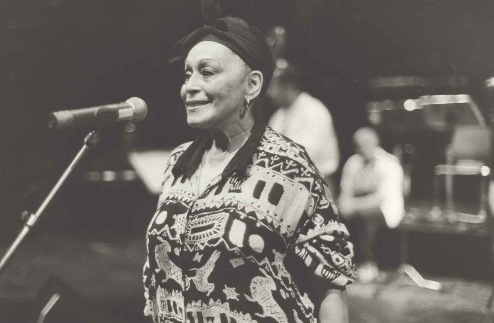 Omara Portuondo durante la grabación de 'Veinte años'.