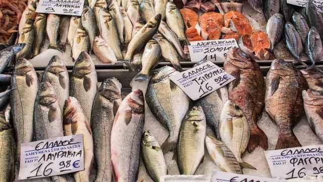 Una pescadería del Mercado de la Boquería.