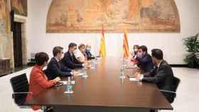 Reunión de la mesa de diálogo entre el Gobierno de España y el de Cataluña.