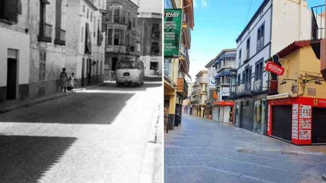 El antes y el después del Paseo de la Carretera en Benidorm.