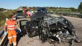 Vicente  ICAL. Un muerto en accidente de tráfico en la A 62 (1)