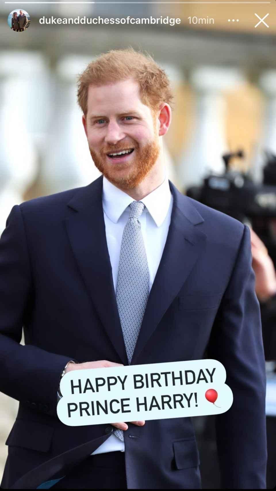 Les félicitations des ducs de Sussex au prince Harry.
