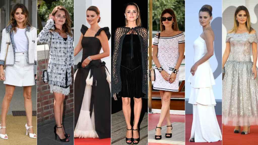 Penélope Cruz con todos los 'looks' que llevó al Festival de Cine de Venecia.