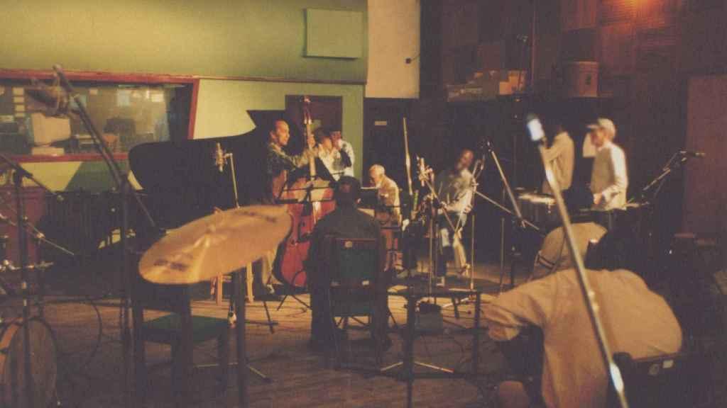 Los músicos de Buena Vista Social Club durante las sesiones en EGREM.