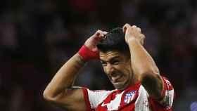 Luis Suárez, durante el Atlético de Madrid - Porto