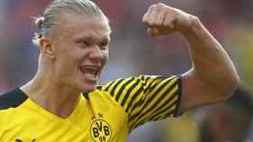 Erling Haaland, en un partido del Borussia Dortmund en la 2021/2022