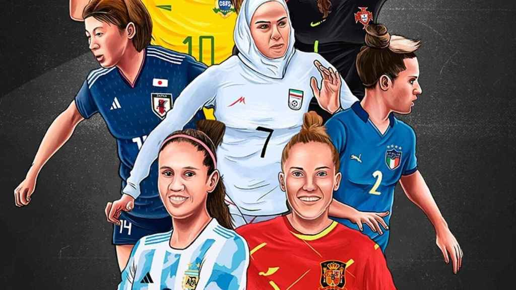 Cartel del movimiento de las jugadoras de fútbol sala femenino para tener Mundial