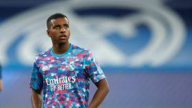 Rodrygo Goes, en un entrenamiento del Real Madrid