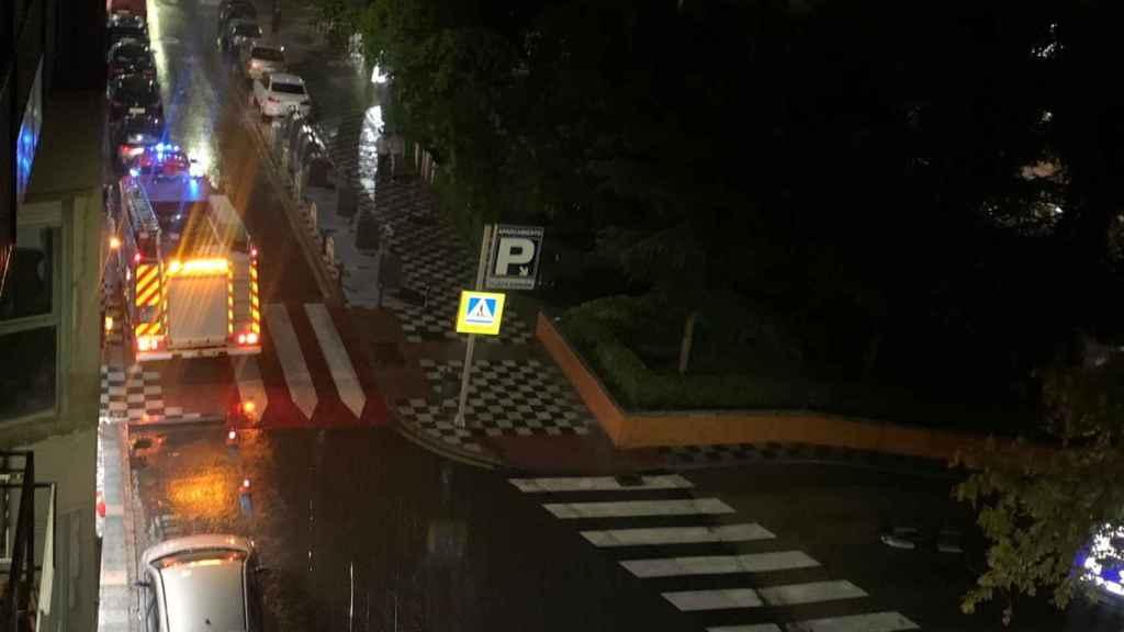 Actuaciones de bomberos en Cuenca tras las lluvias torrenciales - Foto: EUROPA PRESS / ARIADNA BURGOS