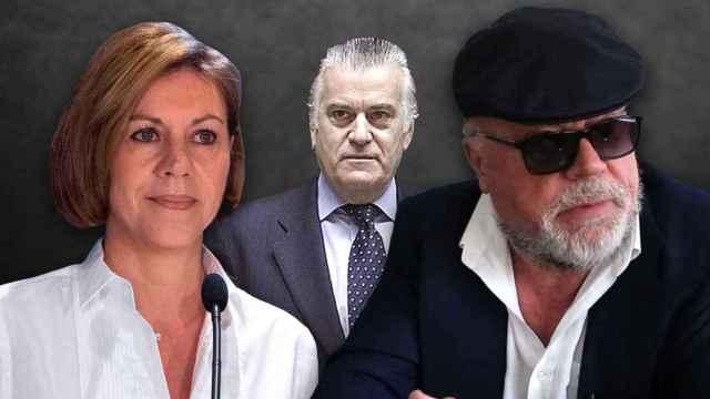 María Dolores de Cospedal, Luis Bárcenas y José Villarejo