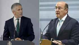 El ministro del Interior, Grande-Marlaska,  y el coronel Pérez de los Cobos.