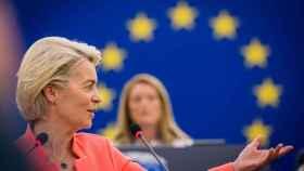 La presidenta Ursula von der Leyen, durante el discurso sobre el estado de la Unión