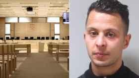 Sala en la que están siendo juzgados Salah Abdeslam y el resto de acusados por los atentados de París.