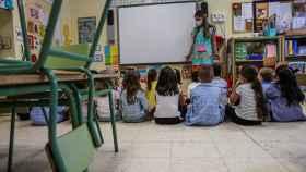 Los alumnos volvieron a las clases el pasado jueves en el colegio Aquisgrán en Toledo.