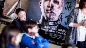 Un grupo de niños en una campaña contra el 'bullying'.