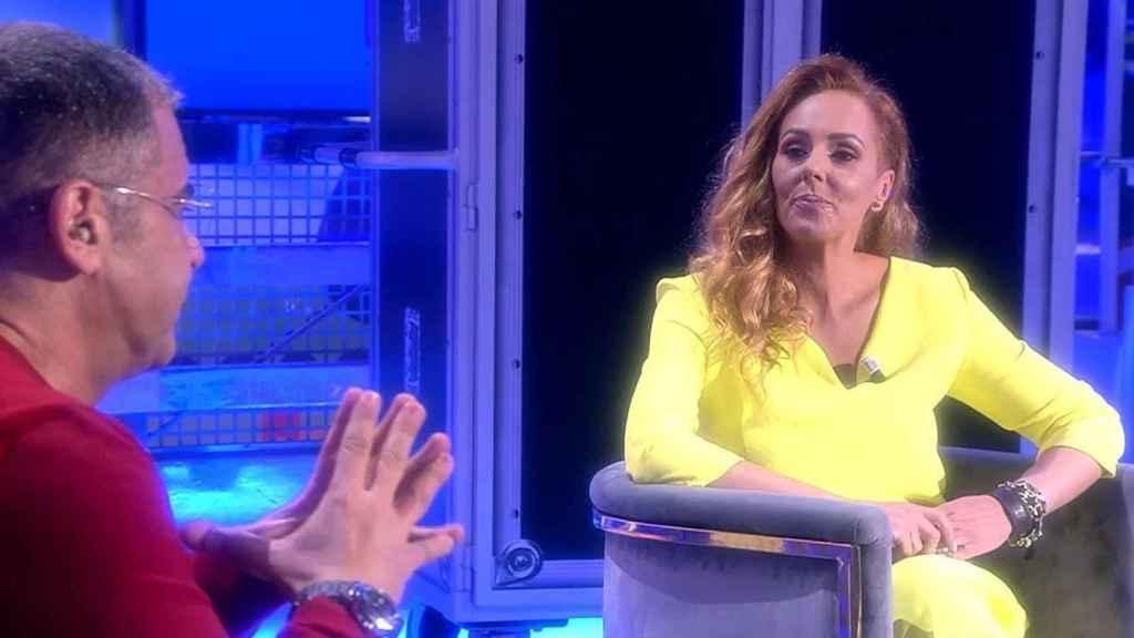 Rocío Carrasco con Jorge Javier Vázquez en 'Sálvame'
