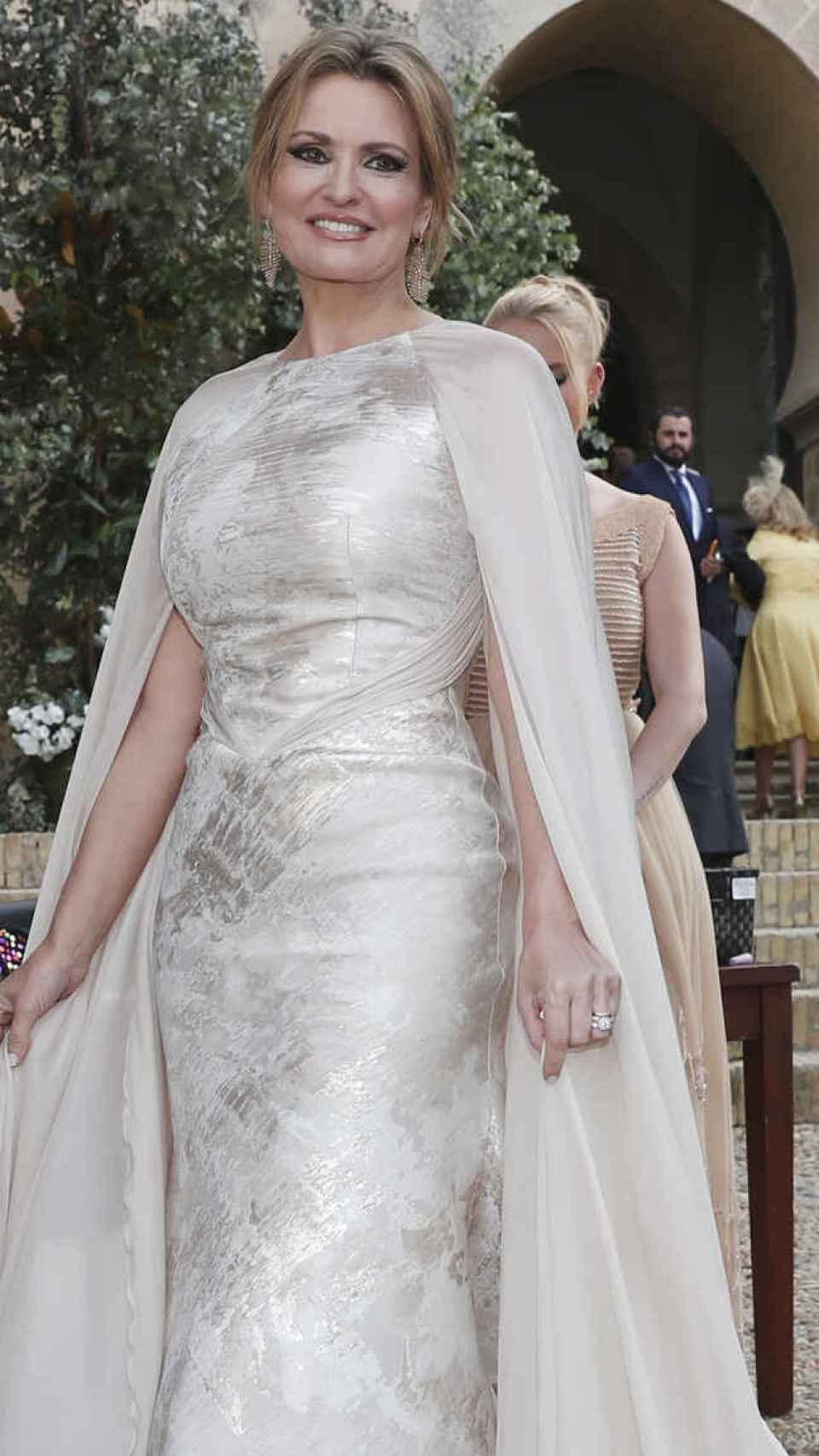 Arteta el día de su boda con Urrea en 2019.