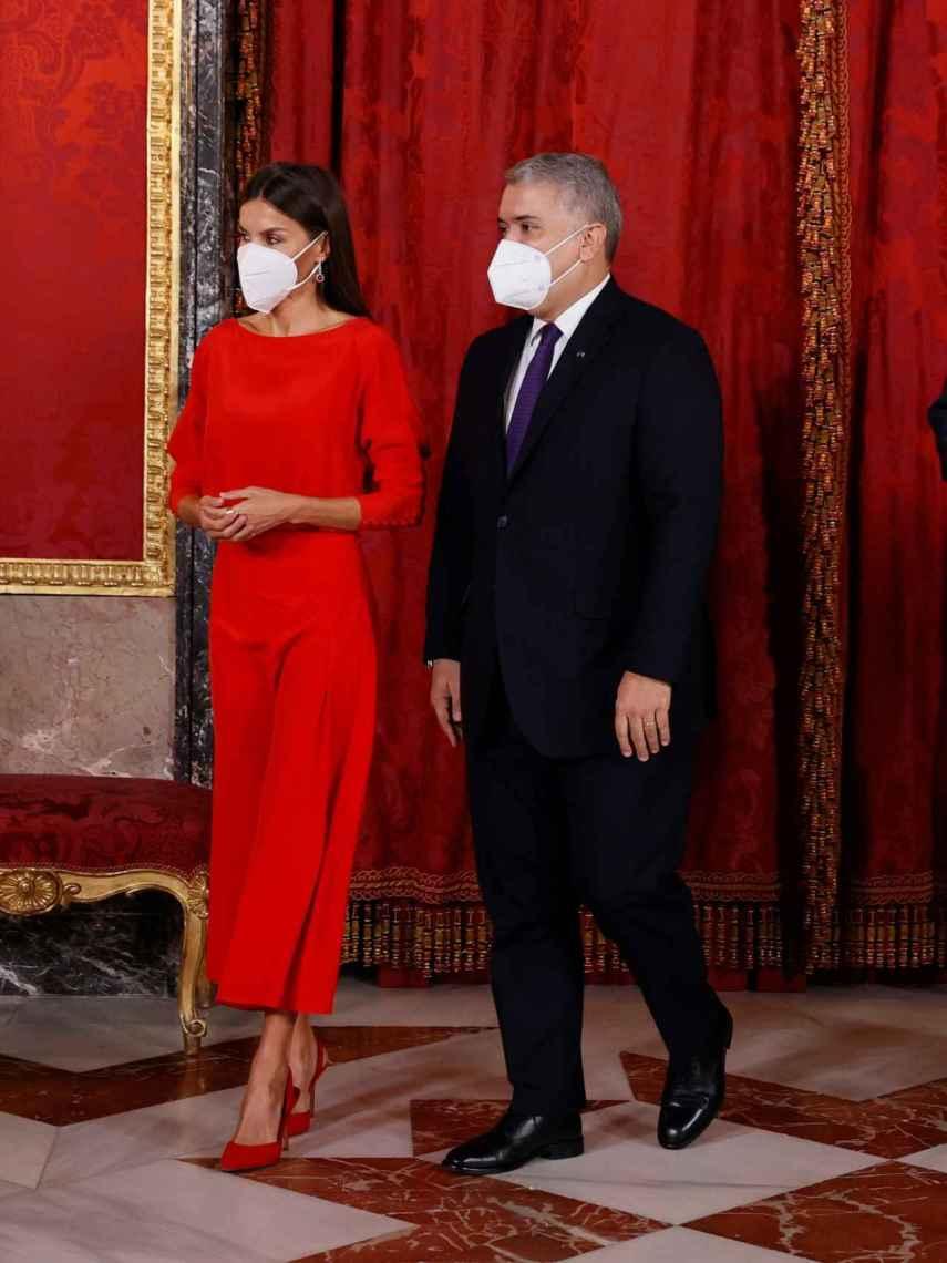 La reina Letizia junto al presidente de Colombia, Iván Duque Márquez.