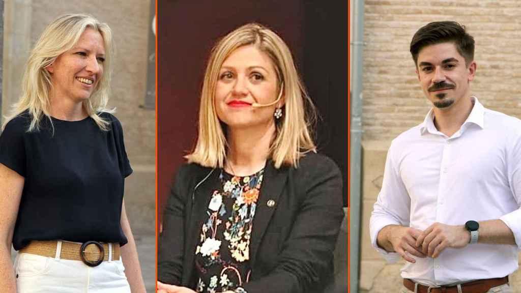La  nueva secretaria de Organización de Cs, María José Ros; la nueva secretaria de Acción Institucional, Paqui Pérez y el nuevo secretario de Comunicación, José Luis Ros.