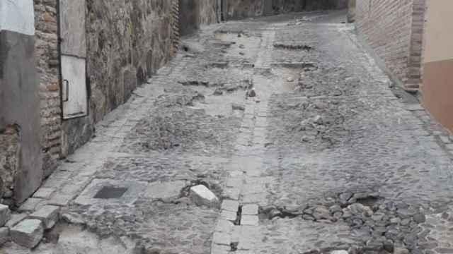 Cortarán la Bajada de San Sebastián en Toledo para arreglar los destrozos de la DANA