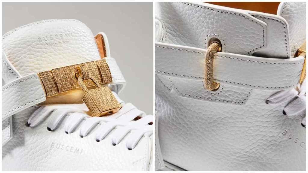 Los lujosos detalles de las zapatillas.