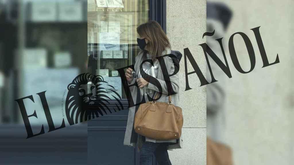 Gema López por las calles de Madrid el mismo día que Pardo recogió a su hija de casa.