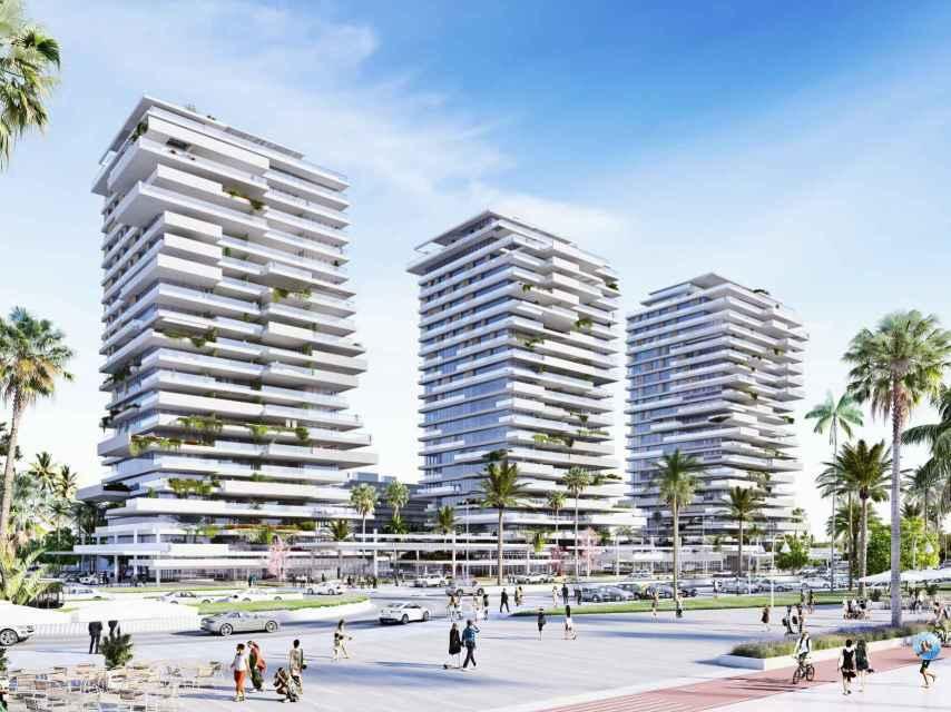 Los tres edificios diseñados por Carlos Lamela.