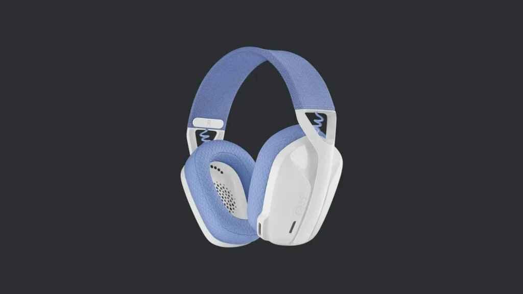 Logitech G435 en color blanco y lila.