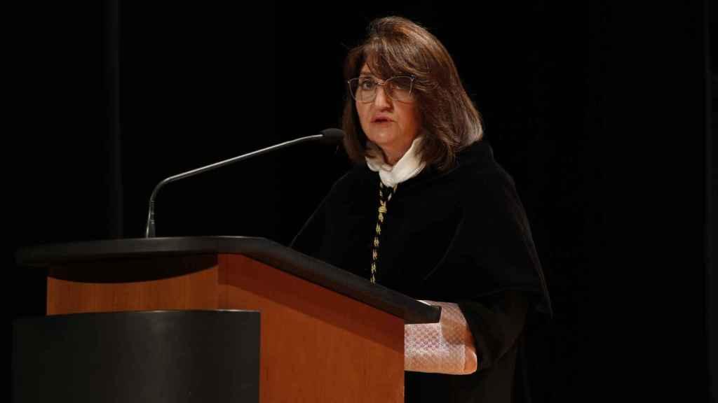 La rectora, Amparo Navarro, en la apertura del Curso en la UA.