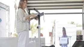 La vicepresidenta y ministra para la Transición Ecológica y el Reto Demográfico, Teresa Ribera, en Crevillente.