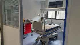 Box de urgencias en las nuevas instalaciones del Hospital de Salamanca.