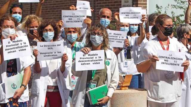 Movilización contra el proceso de centralización del SES en la Provincia de Alicante.