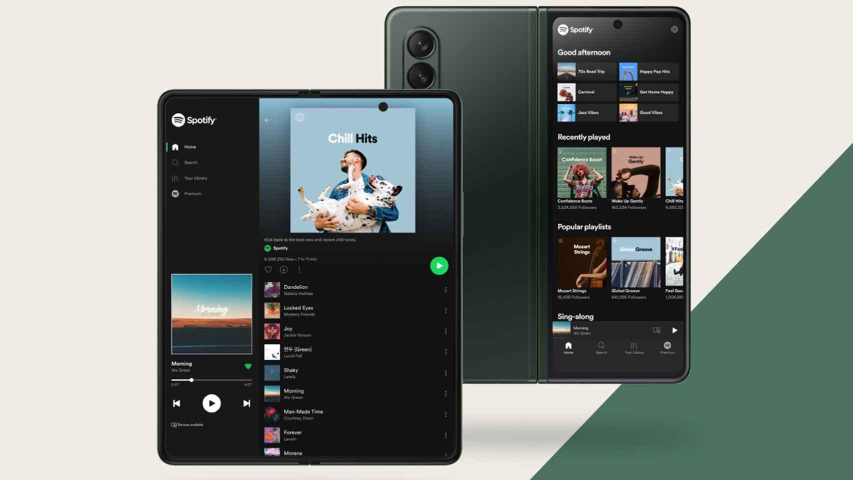 Spotify en los dos plegables de la marca Samsung