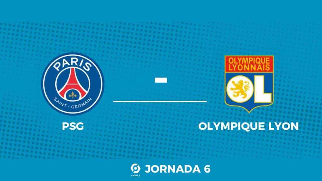 Cartel del partido entre el PSG y el Olympique de Lyon de la Ligue-1