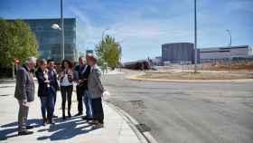 Una de las rotondas construidas para dar acceso al nuevo hospital de Toledo.