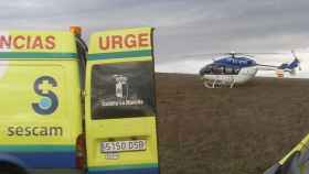 Imagen de archivo de un helicóptero medicalizado.