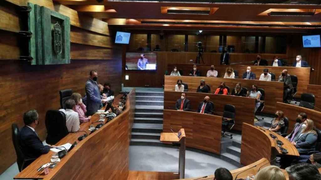 El hemiciclo del Parlamento asturiano.