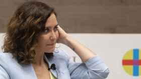 La presidenta de la Comunidad de Madrid, Isabel Díaz Ayuso, interviene en la Universidad CEU San Pablo.