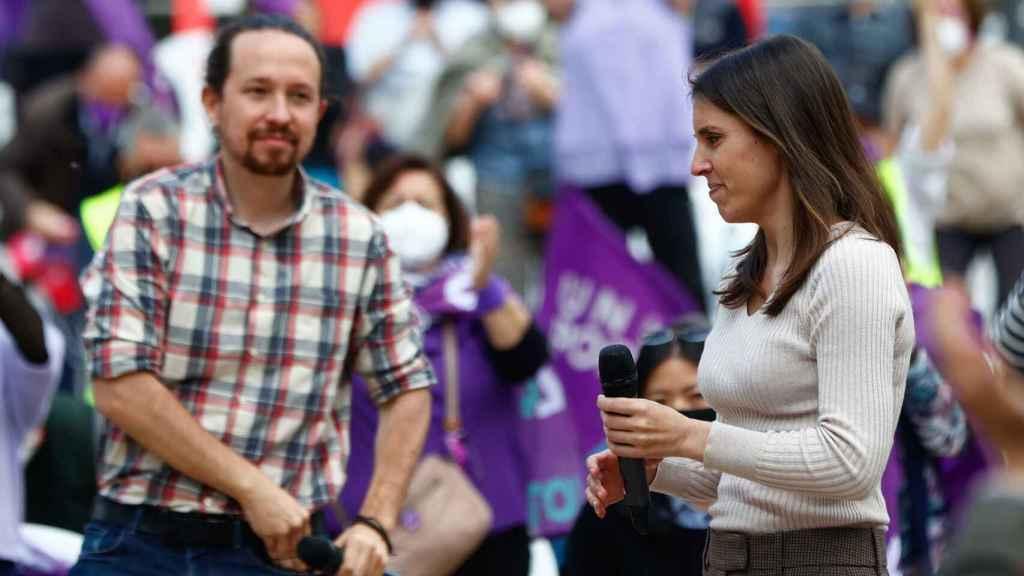 Pablo Iglesias e Irene Montero, en una imagen de archivo.