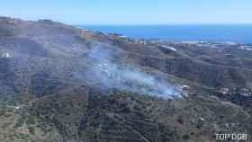 El incendio forestal en Arenas.