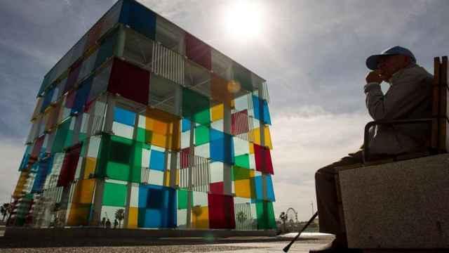 Vista exterior del Centro Pompidou de Málaga.