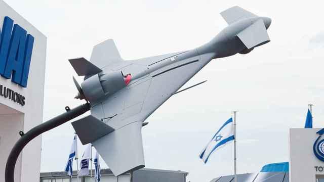 Imagen de archivo de una maqueta de un dron bomba israelí.