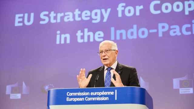 El jefe de la diplomacia de la UE, Josep Borrell, durante la rueda de prensa de este jueves
