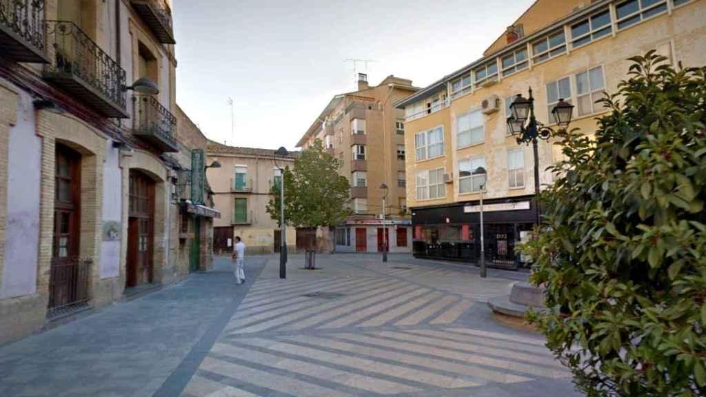 La plaza Nuestra Señora de Salas, lugar del suceso.