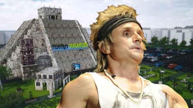Fotomontaje de Nacho Cano y su proyecto de pirámide en Hortaleza.