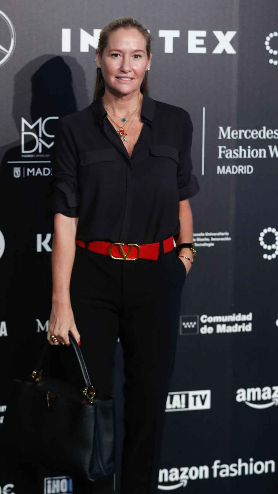 La estilista Fiona Ferrer no se perdió este jueves el arranque de la MBFWM.