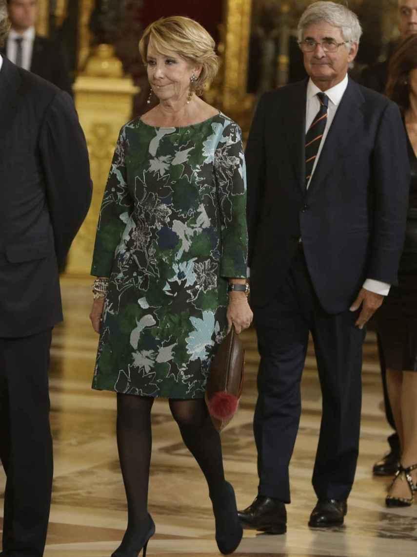 Esperanza y Fernando Ramírez de Haro, en la recepción de los Reyes.