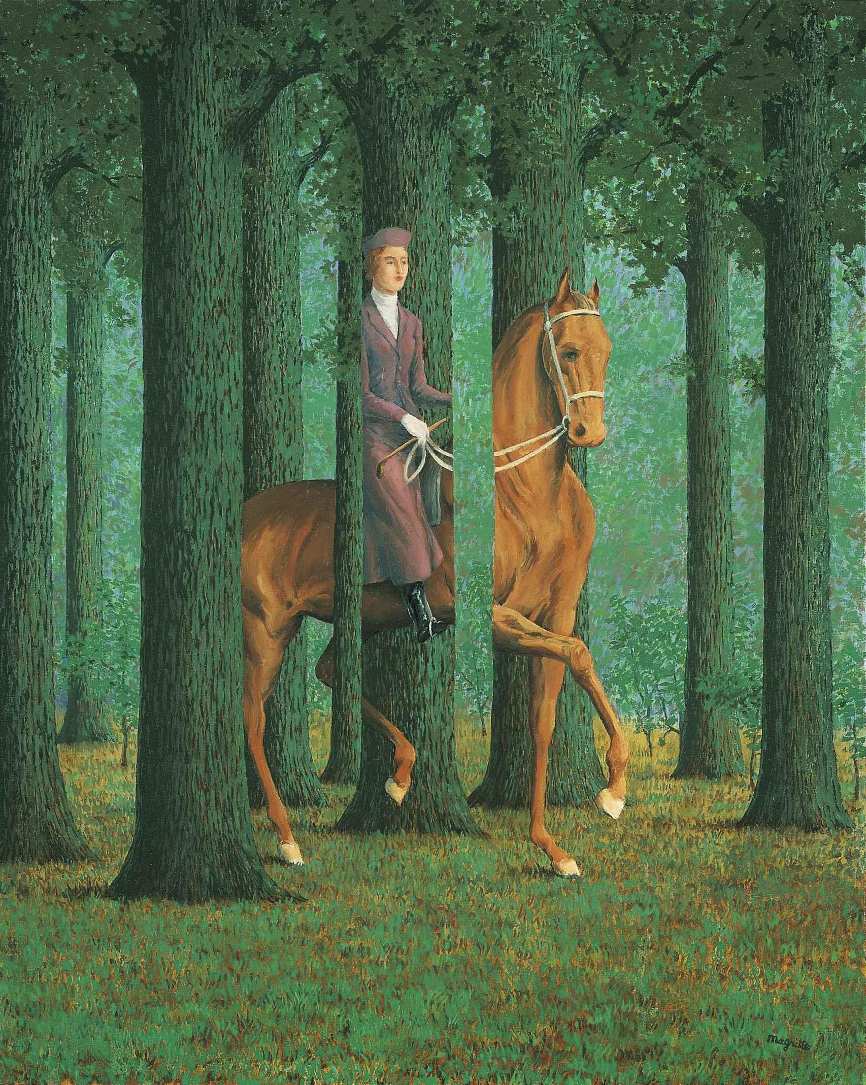 'La firma en blanco', de René Magritte.