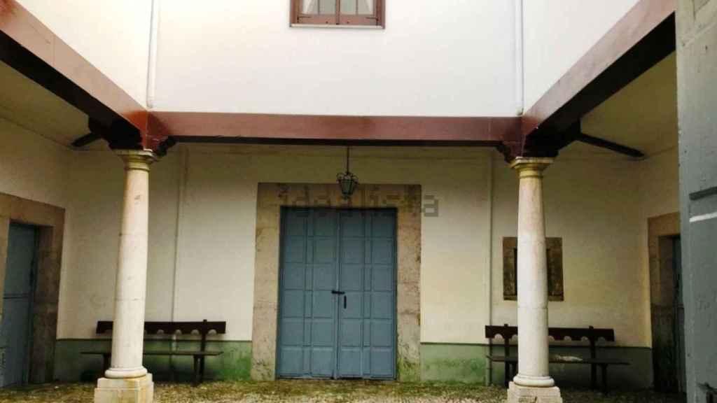 Uno de los patios interiores del palacete de la marquesa de Casa Valdés.