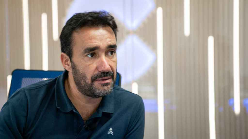 Juanma Castaño durante la entrevista.